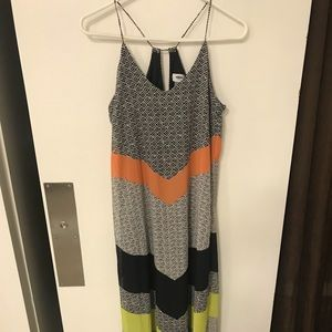 Old navy chevron black and multi maxi dress